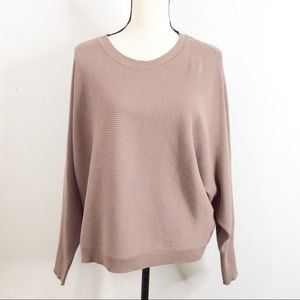 Forever 21 Asymmetrical Knit Sweater Top | Large